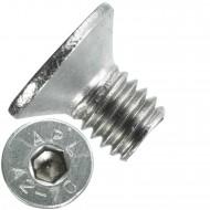 500 Senkschrauben M 6 x 10 mm  - ISO 10642 - Innensechskant - Edelstahl A2