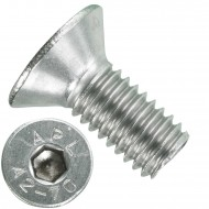 200 Senkschrauben M 6 x 14 mm  - ISO 10642 - Innensechskant - Edelstahl A2