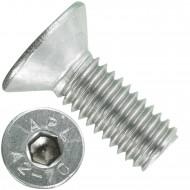 200 Senkschrauben M 6 x 16 mm  - ISO 10642 - Innensechskant - Edelstahl A2