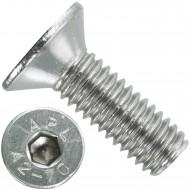 200 Senkschrauben M 6 x 18 mm  - ISO 10642 - Innensechskant - Edelstahl A2