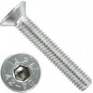 200 Senkschrauben M 6 x 35 mm  - ISO 10642 - Innensechskant - Edelstahl A2