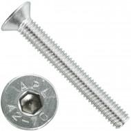 100 Senkschrauben M 6 x 45 mm  - ISO 10642 - Innensechskant - Edelstahl A2