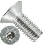 200 Senkschrauben M 8 x 20 mm  - ISO 10642 - Innensechskant - Edelstahl A2