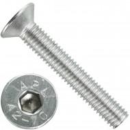 100 Senkschrauben M 8 x 50 mm  - ISO 10642 - Innensechskant - Edelstahl A2