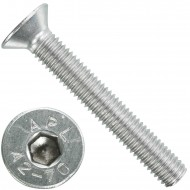 100 Senkschrauben M 8 x 55 mm  - ISO 10642 - Innensechskant - Edelstahl A2