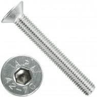 100 Senkschrauben M 8 x 60 mm  - ISO 10642 - Innensechskant - Edelstahl A2