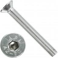 100 Senkschrauben M 8 x 65 mm  - ISO 10642 - Innensechskant - Edelstahl A2