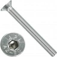 100 Senkschrauben M 8 x 75 mm  - ISO 10642 - Innensechskant - Edelstahl A2