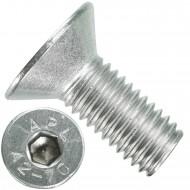 100 Senkschrauben M 10 x 25 mm  - ISO 10642 - Innensechskant - Edelstahl A2