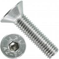100 Senkschrauben M 10 x 40 mm  - ISO 10642 - Innensechskant - Edelstahl A2