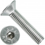 100 Senkschrauben M 10 x 45 mm  - ISO 10642 - Innensechskant - Edelstahl A2