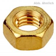 1000 Sechskantmuttern M2 - SW4 - Messing - DIN 934