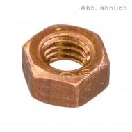 100 Sechskantmuttern M8 - SW13 - Kupfer CuNiSi - DIN 934