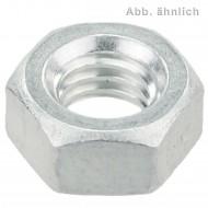 100 Sechskantmuttern M8 - Aluminium - DIN 934