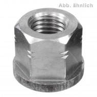 10 Sechskantmuttern M8 - DIN 6331 - mit Bund - Edelstahl A4