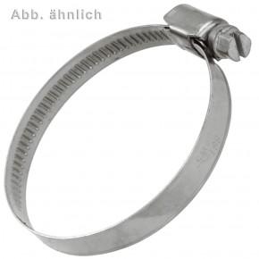 2 Schlauchschellen W5 DIN 3017 Edelstahl A4 Bandbr. 9 16-27 mm