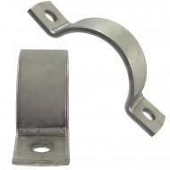 1 Rohrschelle 89 mm Ø - für 80 mm Rohrnennweite - DIN 3567 - Edelstahl A5