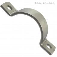 1 Rohrschelle 34 mm Ø - für 25 mm Rohrennweite - DIN 3567 - Edelstahl A5