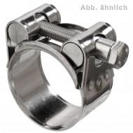 50 Gelenkbolzenschellen W5 DIN 3017 20mm Bandbreite 36-39mm