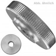 25 Rändelmuttern M4 - DIN 467 - niedrige Form - Edelstahl A1-A2