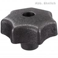 10 Sterngriffe Grauguß DIN 6336 mit Gewindedurchloch D40 M8