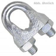 100 Drahtseilklemmen DIN 741 Stahl verzinkt 3mm - M4