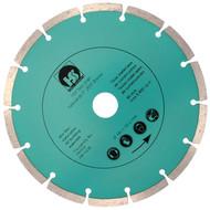 1 Diamant Trennscheibe mit 2,2 mm Stärke und segmentiertem Schneidrand 180 mm