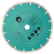 1 Diamant Trennscheibe mit 2,4 mm Stärke und segmentiertem Schneidrand 230 mm
