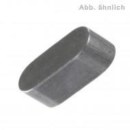 100 Passfedern 22 x 5 mm - rundstirnig ohne Bohrungen – 5 mm Dick - blank
