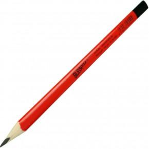 1 Multigraphstift für glatte Oberflächen, Mine 7B, dreieckig, Rot,  Länge 240 mm