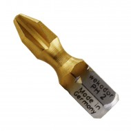 10 Philips Bit PH2, 1-4 Zoll Aufnahme C 6,3, Länge 25mm, TiN beschichtet