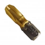 10 Philips Bit PH3, 1-4 Zoll Aufnahme C 6,3, Länge 25mm, TiN beschichtet