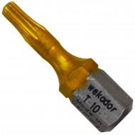 """1 Torx Bit TX10 1-4"""" Aufnahme, Länge 25mm Titan beschichtet"""