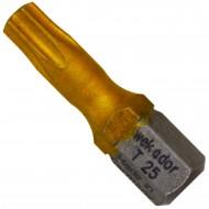 """10 Torx Bits TX25 1-4"""" Aufnahme, Länge 25mm Titan beschichtet"""