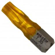 """1 Torx Bit TX30 1-4"""" Aufnahme, Länge 25mm Titan beschichtet"""