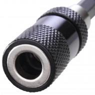 """1 Trockenbau-Bithalter mit Tiefenanschlag - 58 mm lang - magnetisch - für 1-4"""" Bits"""