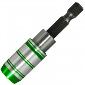 """1 Schnellwechselbithalter, magnetisch, EasyLink + EasyLock, 60 mm lang, für 1-4"""" Bits"""
