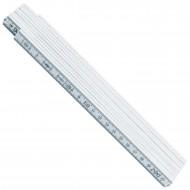 1 Adga Zollstock - 2m - Weiß - 10 Glieder