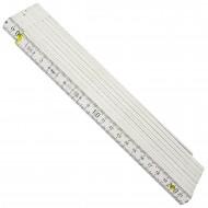 1 Adga Zollstock - 3m - Weiß - 15 Glieder