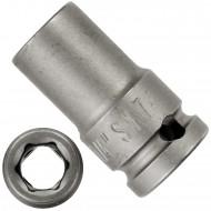 """1 ASW Steckschlüssel, Antrieb 1/4""""G 6,3 - Innensechskant,Länge 23 mm, SW 7"""