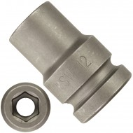 """1 ASW Steckschlüssel,Antrieb 1/2"""" G12,5 - Innensechskant, Länge 38 mm,SW 12"""