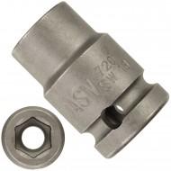 """1 ASW Steckschlüssel,Antrieb 1/2"""" G12,5 - Innensechskant, Länge 38 mm,SW 13"""