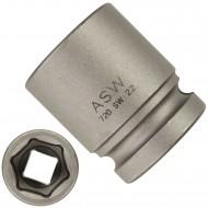 """1 ASW Steckschlüssel,Antrieb 1/2"""" G12,5 - Innensechskant, Länge 38 mm,SW 22"""