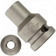 """1 ASW Steckschlüssel,Antrieb 1/2"""" G12,5 - Innensechskant, Länge 38 mm,SW 3/8"""""""