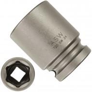 """1 ASW Steckschlüssel,Antrieb 1/2"""" G12,5 - Innensechskant, Länge 45 mm,SW 24"""