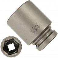 """1 ASW Steckschlüssel,Antrieb 1/2"""" G12,5 - Innensechskant, Länge 50 mm,SW 27"""