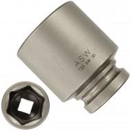"""1 ASW Steckschlüssel,Antrieb 1/2"""" G12,5 - Innensechskant, Länge 50 mm,SW 30"""