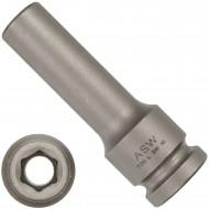 """1 ASW Steckschlüssel-lange Ausführung,Antrieb 1/2"""" G12,5 - Innensechskant, SW 10"""