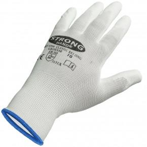 1 Paar Feinstrick - Schutzhandschuhe, teilbeschichtet, weiß, Gr. 10