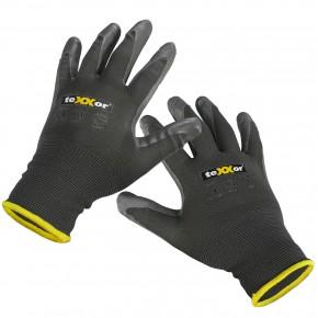 4 Paar Nylon - Schutzhandschuhe, vielseitig, grau, Gr. 09